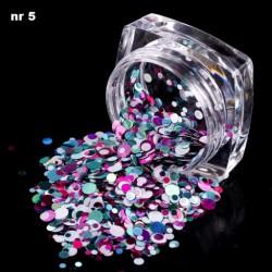 Efekt confetti metalic piegi słoiczek 05
