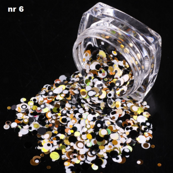 EFEKT Confetti Metalic PIEGI słoiczek 06