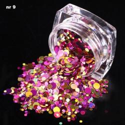 Efekt confetti metalic piegi słoiczek 09