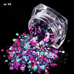 Efekt confetti metalic piegi słoiczek 10
