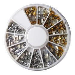 Karuzela ozdoba srebrne złote dżety mix wzorów  k11