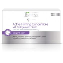 Bielenda zestaw aktywnych koncentratów ujędrniających z kolagenem i elastyną 10x3 ml