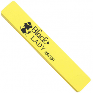 Black lady polerka szeroka do paznokci *100/180 żółta