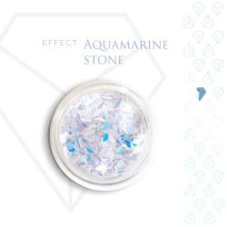 Aquamarine Stone Effect Szlachetny Kamień Efekt Opalizujący 3D