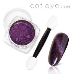 Magiczny Efekt Pyłek Kocie oko Cat Eye Violet