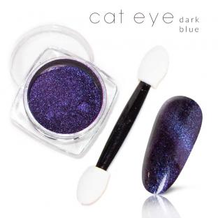 Magiczny Efekt Pyłek Kocie oko Cat Eye Dark Blue