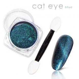 Magiczny Efekt Pyłek Kocie oko Cat Eye blue