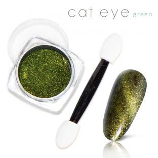 Magiczny Efekt Pyłek Kocie oko Cat Eye green