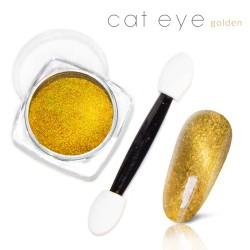 Magiczny Efekt Pyłek Kocie oko Cat Eye gold