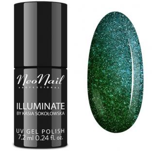 NeoNail Lakier Hybrydowy Illuminate Emerald Falls 6383