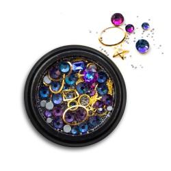 Ozdoby na paznokcie Biżuteria zdobienie Mix 02
