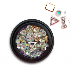 Ozdoby na paznokcie Biżuteria zdobienie Mix 06c