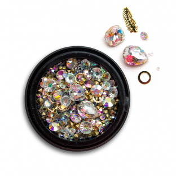 Ozdoby na paznokcie Biżuteria zdobienie Mix 08
