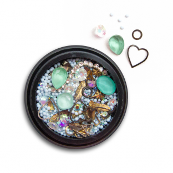 Ozdoby na paznokcie Biżuteria zdobienie Mix 12a