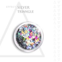 SILVER TRIANGLE efekt ozdoby opal na paznokcie