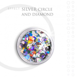 SILVER CIRCLE efekt ozdoby opal na paznokcie