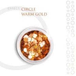CIRCLE Efekt piegi ozdoby na paznokcie Warm Gold