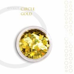 CIRCLE kółka Efekt piegi ozdoby na paznokcie Gold