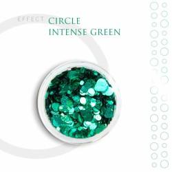 CIRCLE kółka Efekt ozdoby na paznokcie Intense Green