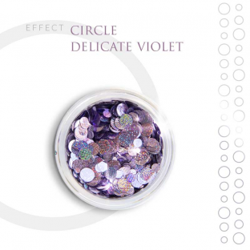 CIRCLE Efekt ozdoby na paznokcie Delicate Violet