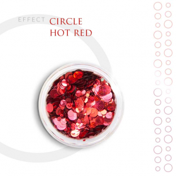 CIRCLE Efekt piegi ozdoby na paznokcie Hot Red