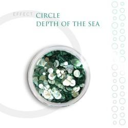 CIRCLE Efekt piegi ozdoby na paznokcie Depth of the sea