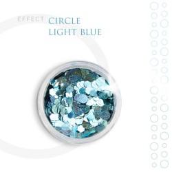 CIRCLE efekt piegi ozdoby na paznokcie Light Blue