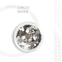 CIRCLE efekt piegi ozdoby na paznokcie Silver