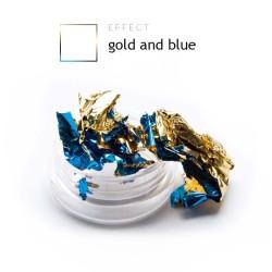 Dwustronna Folia pazłotko ozdoba na paznokcie gold and blue