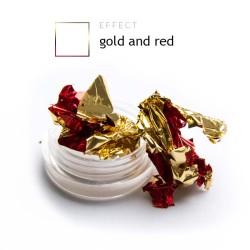Dwustronna Folia pazłotko ozdoba na paznokcie gold and red