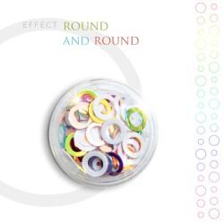 Round and Round Effect Opalizujące Kółka do Zdobień