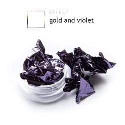 Dwustronna Folia pazłotko ozdoba na paznokcie violet