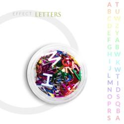 Literki efekt ozdoby na paznokcie mix literek
