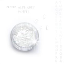 Alfabet literki efekt ozdoby na paznokcie White