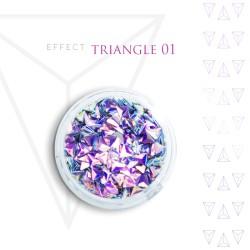 Trójkąty Opalizując ozdoby 3D unicorn Triangle 01