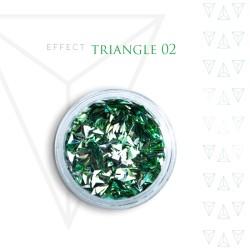 Trójkąty Opalizując ozdoby 3D unicorn Triangle 02