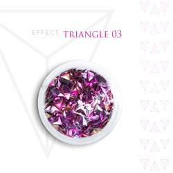 Trójkąty Opalizując ozdoby 3D unicorn Triangle 03
