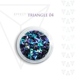 Trójkąty Opalizując ozdoby 3D unicorn Triangle 04