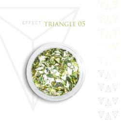 Trójkąty Opalizując ozdoby 3D unicorn Triangle 05