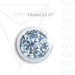 Trójkąty Opalizując ozdoby 3D unicorn Triangle 07