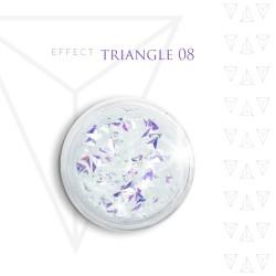 Trójkąty Opalizując ozdoby 3D unicorn Triangle 08