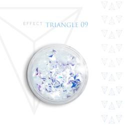 Trójkąty Opalizując ozdoby 3D unicorn Triangle 09