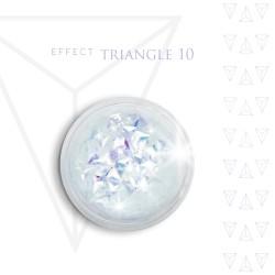 Trójkąty Opalizując ozdoby 3D unicorn Triangle 10