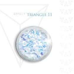 Trójkąty Opalizując ozdoby 3D unicorn Triangle 11