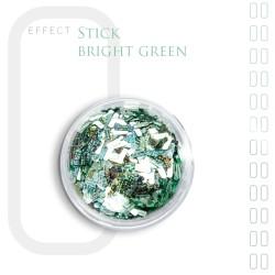 Stick Efekt do paznokci ozdoby nitki Bright Green