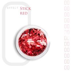 Stick Efekt do paznokci ozdoby niteczki Red