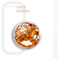 Stick Efekt do paznokci ozdoby niteczki Orange