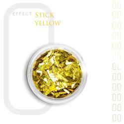 Stick Efekt do paznokci ozdoby niteczki Yellow