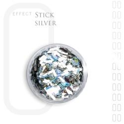 Stick Efekt do paznokci ozdoby niteczki Silver