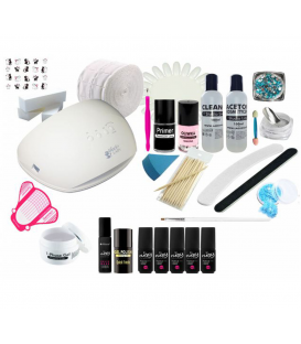Zestaw manicure hybrydowy Flexy 5x lakier 36W UV/LED